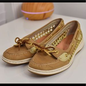 Sperry Top-Sider with Gold Net/Rope Details